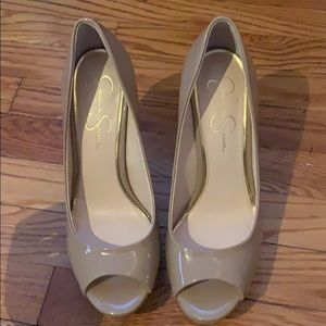 Jessica Simpson open toe pumps